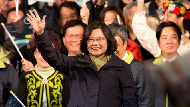Bà Thái Anh Văn đắc cử nhờ sự ủng hộ của các cử tri trẻ. Ảnh: Getty