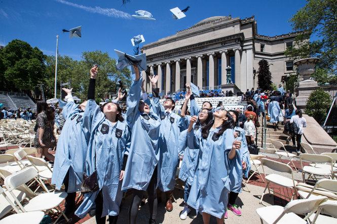 Du học sinh Trung Quốc trong buổi lễ tốt nghiệp ở Đại học Columbia Mỹ năm 2016. -Ảnh: Getty Images