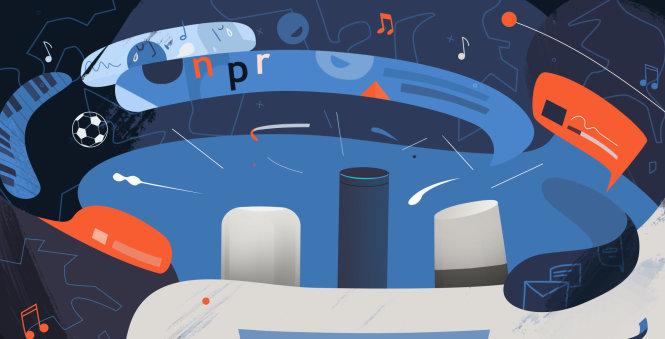 Loa thông minh giúp việc nghe podcast tiện hơn. Ảnh: kvpr.org