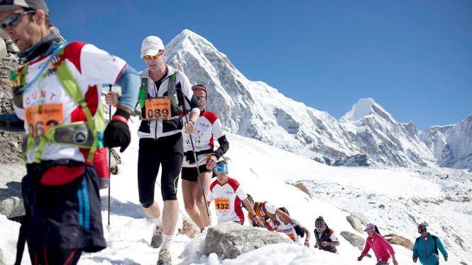 Giải Everest Marathon là giải chạy bộ địa hình vào loại khắc nghiệt nhất thế giới. Ảnh: Everest Marathon