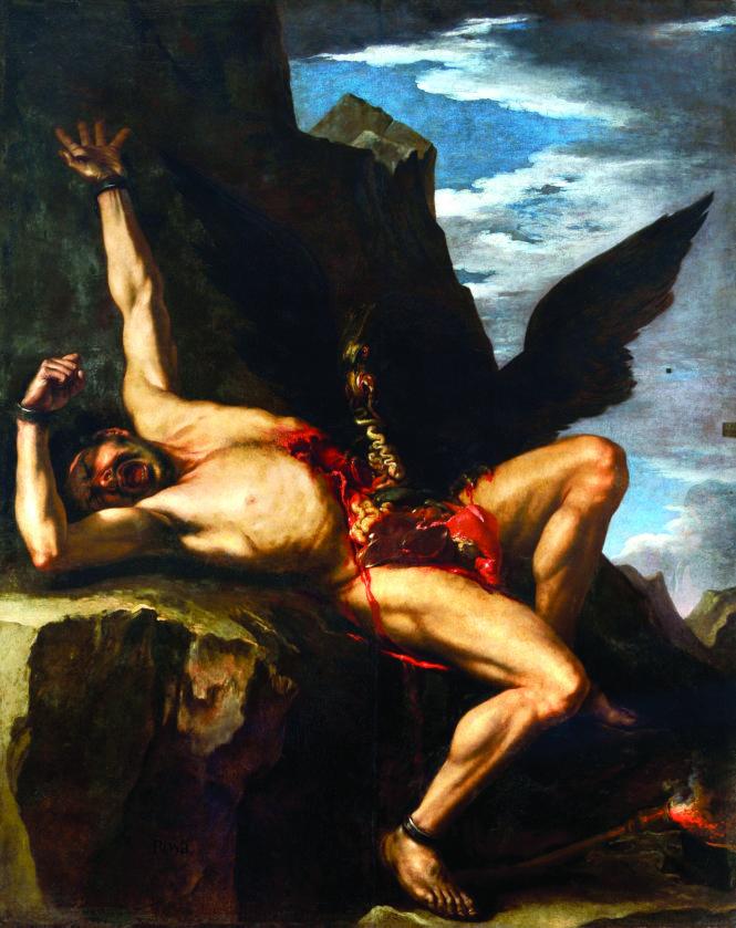 Bức tranh Torture of Prometheus (sơn dầu) của Salvator Rosa, một họa sĩ thời kỳ Baroque.