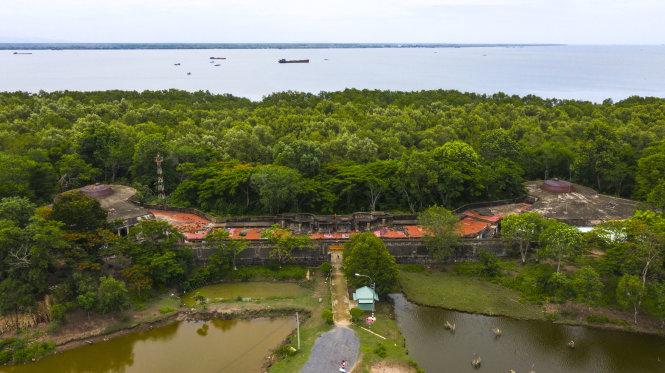 Toàn cảnh pháo đài Rạch Cát. Ảnh: Quang Định