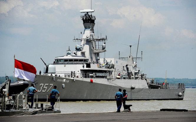 Hải quân Indonesia vừa tổ chức tập trận lớn ngày 21-7. Ảnh: indonesiaexpat.biz