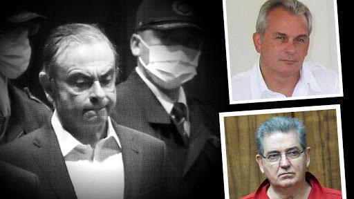 Michael Taylor (ảnh nhỏ trên), người đạo diễn phi vụ giải cứu ngoạn mục Carlos Ghosn (ảnh lớn). Ảnh: Daily Mail