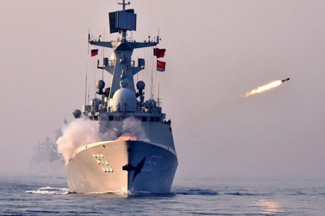 Trung Quốc lại diễu võ dương oai trên biển. Ảnh: Tân Hoa xã