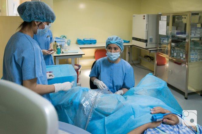 Một bệnh nhân cần hỗ trợ sinh sản ở Trung tâm TTTON Bệnh viện Mỹ Đức. Ảnh: H.M.T.