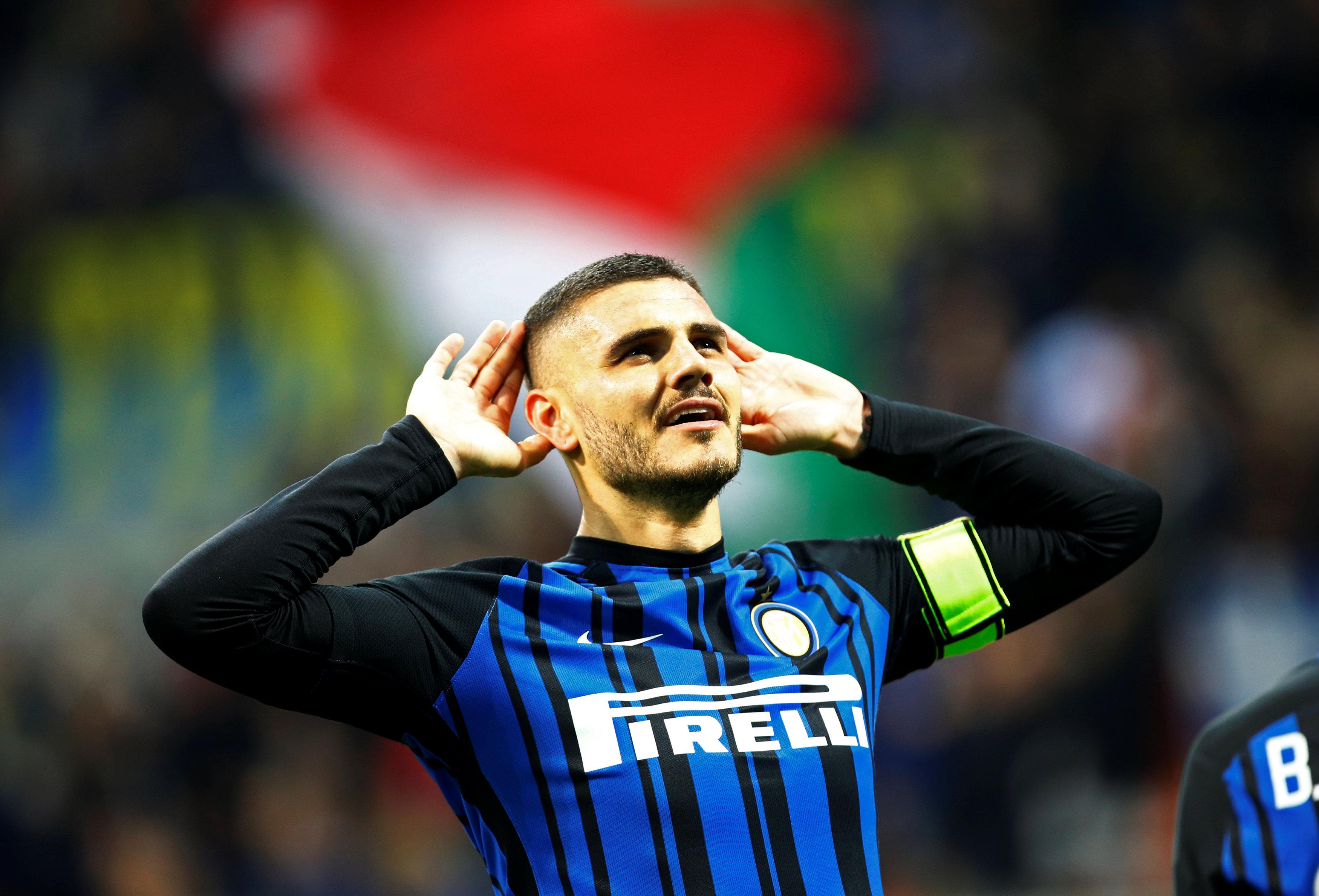 Icardi tỏa sáng với cú đúp bàn thắng vào lưới Sampdoria. Ảnh: REUTERS