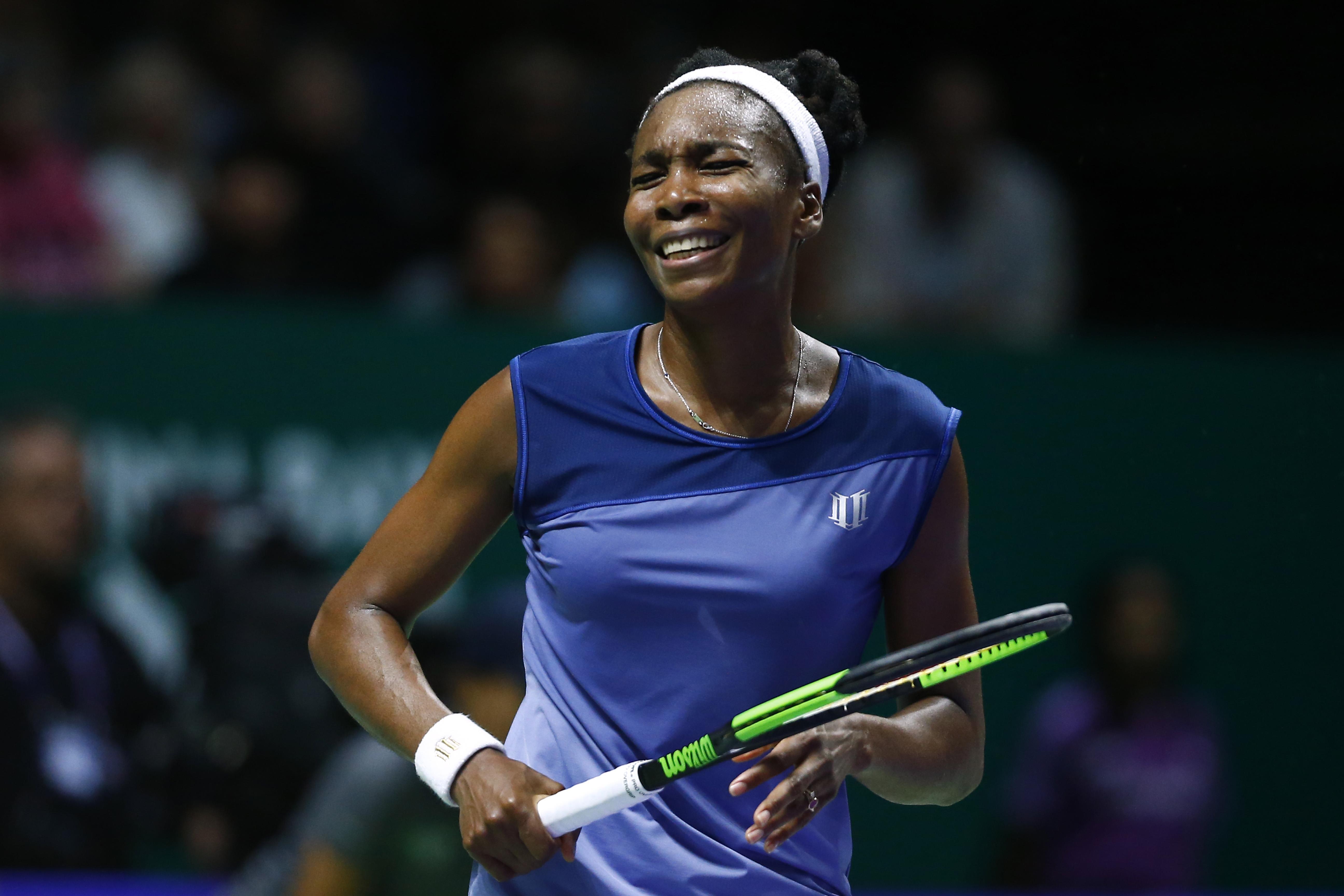 Sự thất vọng của Venus trong trận thua Wozniacki. Ảnh: REUTERS