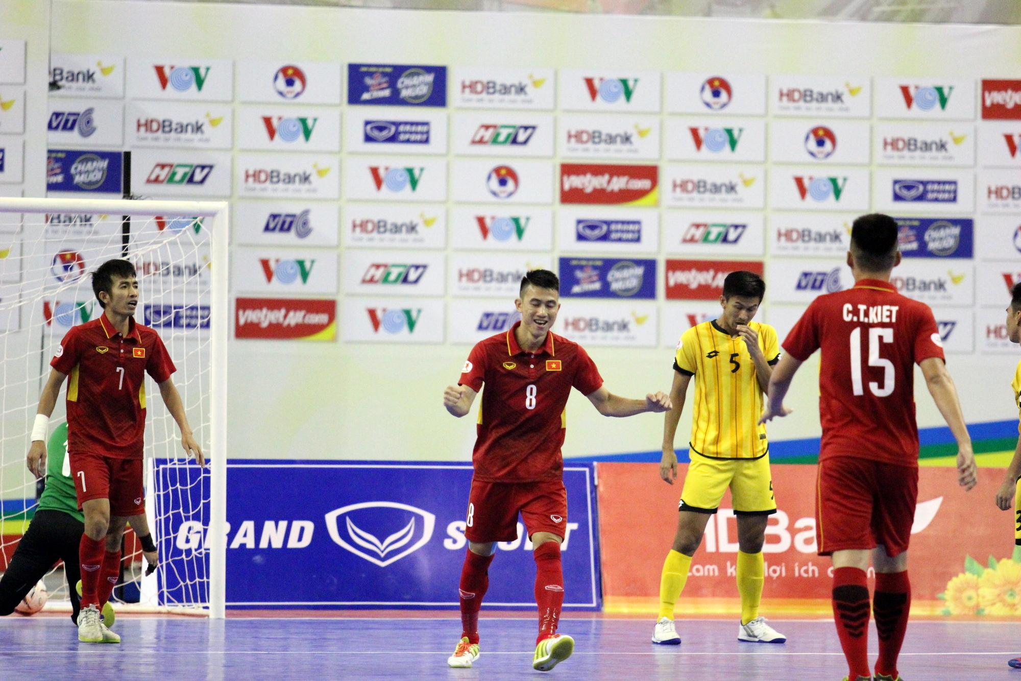 Đội tuyển futsal VN đã thắng đậm Brunei 18-0. Ảnh: HÀ KHÁNH