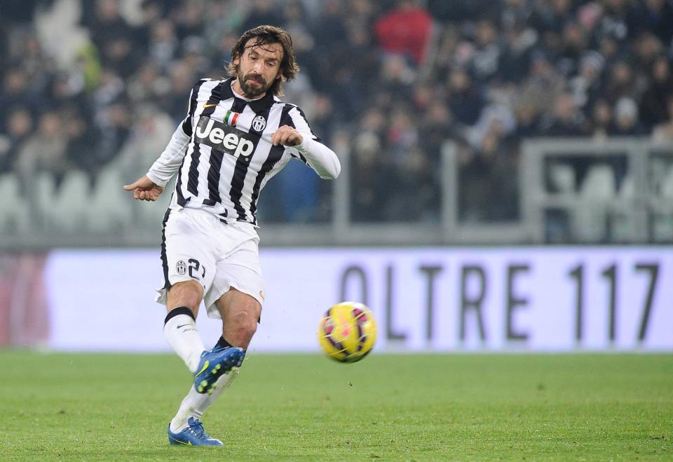 Pirlo trong màu áo Juventus. Ảnh: GETTY IMAGES