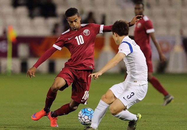 Akram Afif (số 10) là một trong những ngôi sao đáng chú ý của U-23 Qatar. Ảnh: GETTY IMAGES