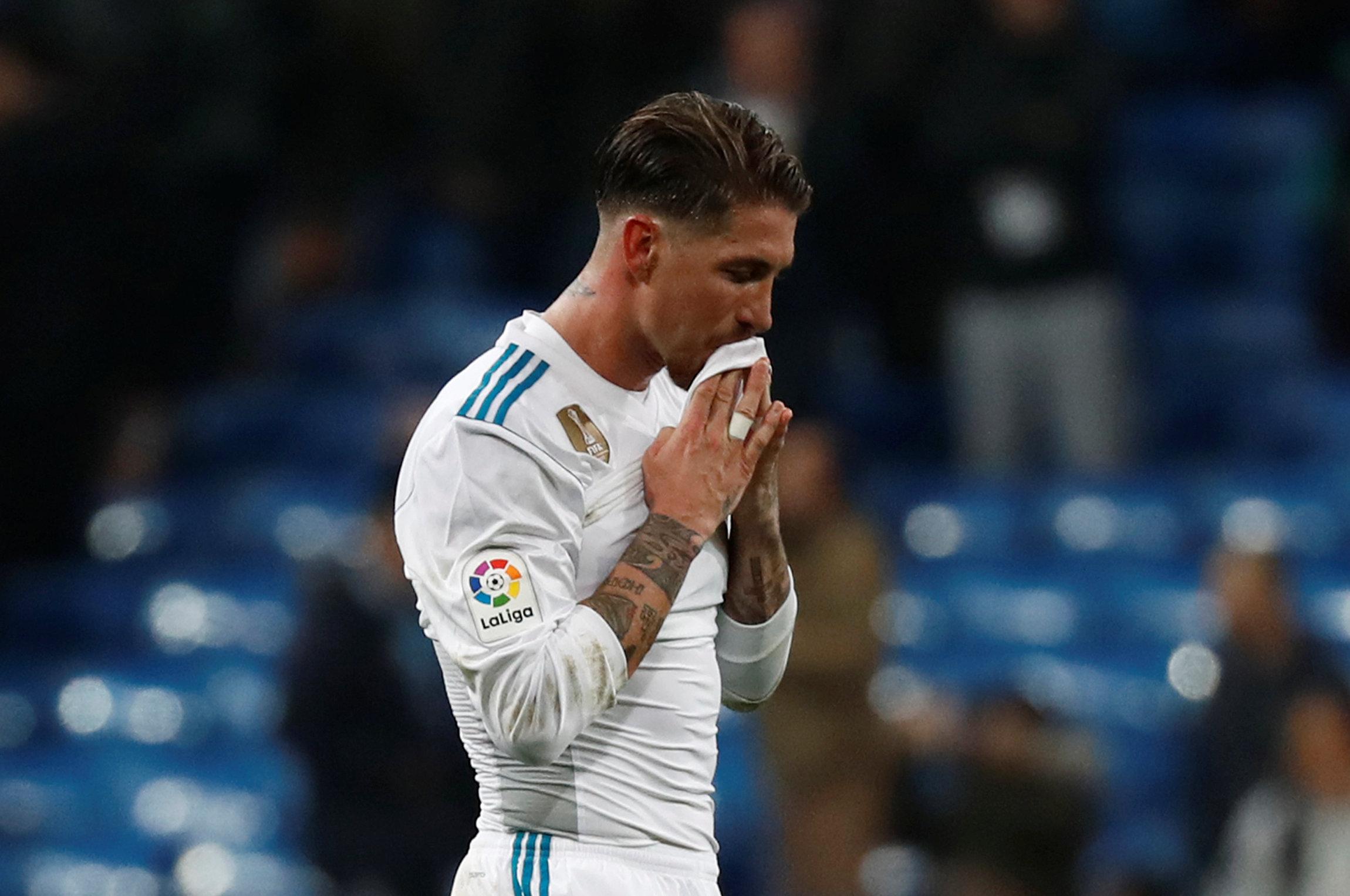 Nỗi thất vọng của Ramos sau khi R.M bị loại. Ảnh: REUTERS