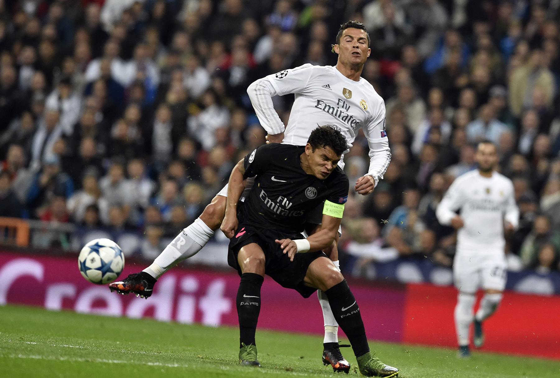 Ronaldo sẽ tái ngộ Thiago Silva trong trận cầu đáng xem nhất mùa tết. Ảnh: PSG Talk