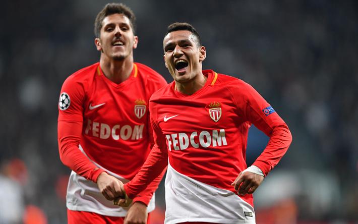 Niềm vui của Stevan Jovetic sau khi ghi bàn cho Monaco. Ảnh: GETTY IMAGES