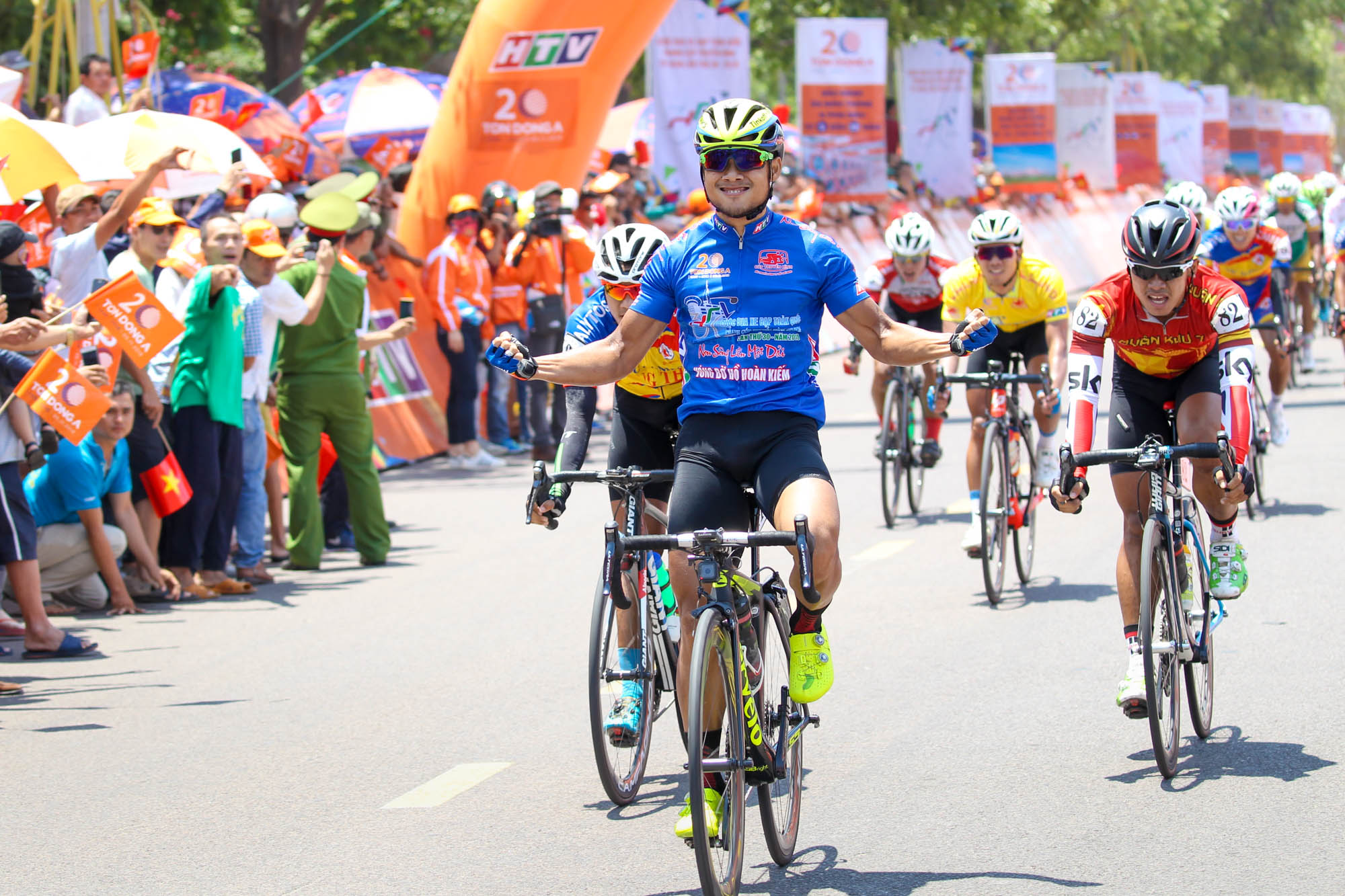 Lê Nguyệt Minh chiến thắng tại TP Quy Nhơn. Ảnh: M.Q