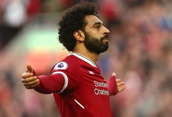 Salah ăn mừng bàn nâng tỉ số lên 2-0 cho Liverpool. Ảnh: GETTY IMAGES